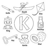 Vector cute kids alphabet. royalty free illustration