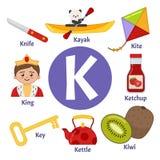 Vector cute kids alphabet. vector illustration