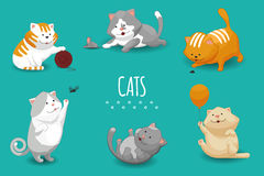 Vector cute kittens illustration Royalty Free Stock Image