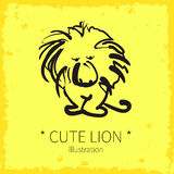 Vector cute lion illustration. Stock Photography