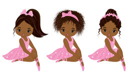 Vector Cute Little African American Ballerinas Stock Photo