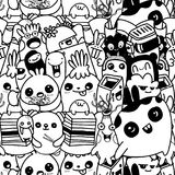 Vector cute monsters set collection isolated. Doodle style Royalty Free Stock Photo