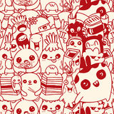 Vector cute monsters set collection isolated. Doodle style Stock Photography