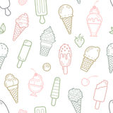 Vector cute pastel ice cream seamless pattern Stock Images