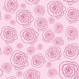 Vector cute pink floral seamless pattern Stock Photography