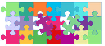 Vector Cute puzzle background. Vector Cute colorful puzzle background vector illustration