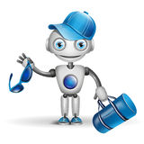 Vector cute robot sportsman Royalty Free Stock Photography