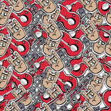 Vector cute rock and roll abstract background. Stock Photography