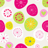 Seamless cute spring flowers background Stock Images