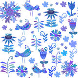 Vector Cute Seamless Pattern Stock Photography