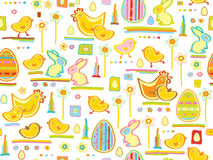 Vector cute seamless pattern, happy Easter.