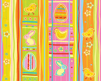 Vector cute seamless pattern, happy Easter. Stock Image