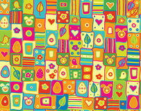 Vector cute seamless pattern, happy Easter. Royalty Free Stock Photo