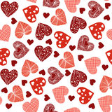 Vector cute seamless pattern with hearts Royalty Free Stock Images