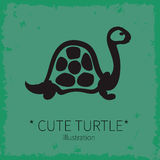 Vector cute turtle illustration. Royalty Free Stock Photo