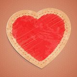 Vector cute vintage red heart Stock Photography