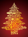 Vector cutlery as Christmas tree Royalty Free Stock Image