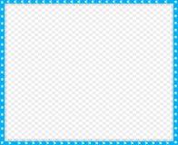 Vector cyaan blauwe en witte geïsoleerde rechthoekgrens van dierlijke potendruk stock illustratie