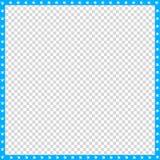 Vector cyaan blauwe en witte vierkante grens van dierlijke geïsoleerde potendruk stock illustratie