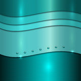 Vector cyan metal background Royalty Free Stock Image