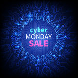 Vector cyber monday sale banner Royalty Free Stock Photo