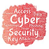 Vector cyber security online access technology Royalty Free Stock Images