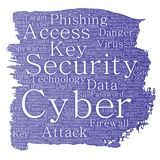 Vector cyber security online access technology Royalty Free Stock Photo