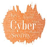 Vector cyber security online access technology Stock Photos