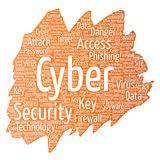 Vector cyber security online access technology Royalty Free Stock Image