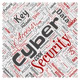 Vector cyber security online access technology. Vector conceptual cyber security online access technology square red word cloud isolated background. Collage of Royalty Free Stock Images