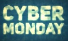 Vector Cybermontag-Verkaufshintergrund mit glänzenden Punkten Vector Illustration von prägeartigen Buchstaben auf Türkishintergru Lizenzfreie Stockbilder