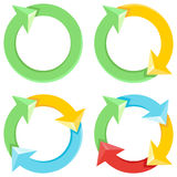 Vector Cycle of Colorful Arrows Stock Image
