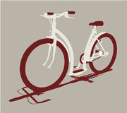Vector cycle front view Royalty Free Stock Photography