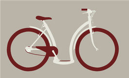 Vector cycle side view Stock Images