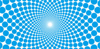 Vector cyclic optical illusion with dots background Royalty Free Stock Image
