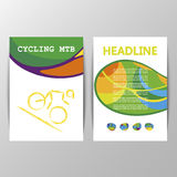 Vector Cycling Mountain Bike sport brochure design Royalty Free Stock Photo