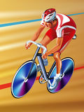 Vector cyclist Royalty Free Stock Image