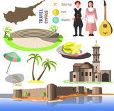 Vector Cyprus symbols and icons. Stock Photos