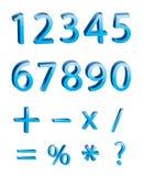 Vector: dígitos numéricos 3D foto de archivo libre de regalías