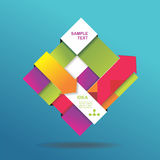 Vector 3d abstract background. Can be used for infographics. Numbered banners Vector Illustration