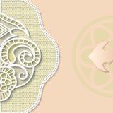 Vector 3D achtergrond, het feestelijke patroon in reliëf maken vector illustratie
