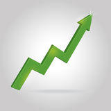 Vector 3d arrow profit. Eps10 Stock Photography