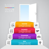 Vector 3d arrows infographic. Template for diagram, graph, presentation and chart. Business startup concept with 4. Layout for your options or steps. Abstract Royalty Free Stock Photos