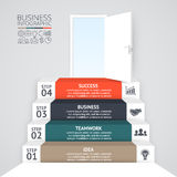 Vector 3d arrows infographic. Template for diagram, graph, presentation and chart. Business startup concept with 4 Royalty Free Stock Image