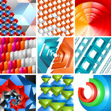 Vector 3d background abstract design set Stock Photos