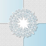 Vector  3D  background, festive pattern embossing,  alace paper card Stock Images
