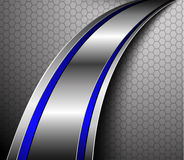 Vector 3D background. Metallic wave Royalty Free Stock Image