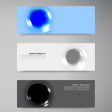 Vector 3d banner 12.09.13. Vector abstract circles and blue ice. set Stock Photo