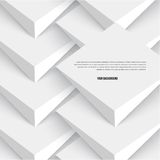 Vector 3d banners and squares. Design Royalty Free Stock Image