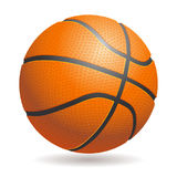 Vector 3d basketball isolated ball on white background. Realisti. C style. Orange and black, classic Stock Photos